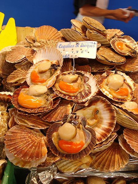 Coquilles Saint-Jacques au Brouilly